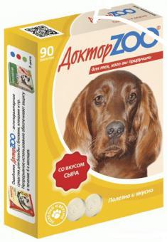 Доктор ZOO 90 таб.со вкусом сыра. Мультивитаминное лакомство для собак