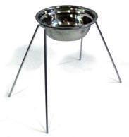 Миски нерегулируемые, 1 металическая миска диаметр 24см 1.7л, высота 40см
