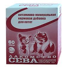 Ceva лакомство СЕВАВИТ  для котят с таурином 60таб