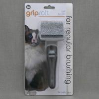 JW Cat Brush Щетка массажная с облитыми кончиками для кошек, пластик