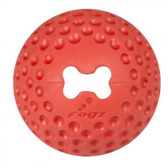 Мяч из литой резины с отверстием для лакомств GUMZ малый, красный (GUMZ BALL SMALL) GU01C