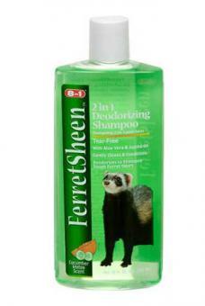 8in1 Шампунь для хорьков дезриродоующий 295 мл Shampoo Ferretsheen Deodorizing,