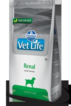 Farmina 2кг Vet Life Dog Natural Diet RENAL Диета при заболеваниях почек для собак