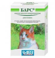 Барс капли для кошек от вшей, блох, волосовиков (власоедов), иксодовых и саркоптоидных клещей