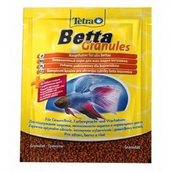 TetraBetta Granules 5гр-корм для всех видов рыб в гранулах