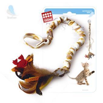 GiGwi (75268) 51415 35см  Игрушка для кошек Дразнилка на резинке (на ручку двери)