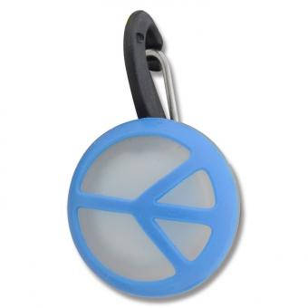 Niteize Peace Sigh Blue КлипЛит Голубой пацифик Светящийся брелок на ошейник, малый