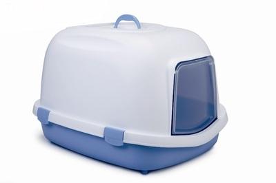 Beeztees 55*71*46,5см Queen Туалет-домик д/кошек бело-голубой