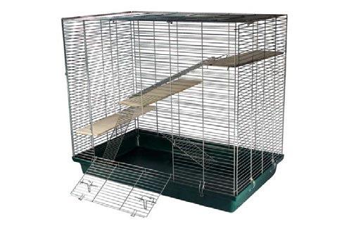 Клетка для хорьков и шиншилл 550*900*600 2 полочки на пластиковом поддоне