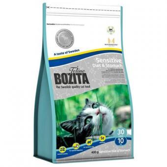 Bozita 10кг Sensitive Diet&Stomach 30/10 Сухой корм для кошек с чувствительным пищеварением с курицей, лосем, овсом и рисом