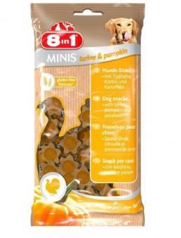 8in1 100г Minis Turkey & Pumpkin лакомство для собак Индейка и тыква, с картофелем