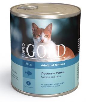 Nero Gold 0,8кг Salmon and Tuna консервы, Лосось и тунец