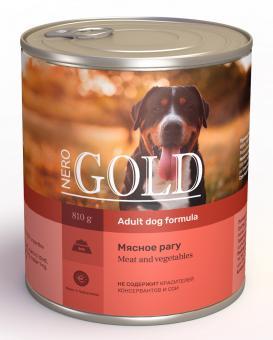 Nero Gold 0,81кг Meat and Vegatables консервы для собак, Мясное рагу