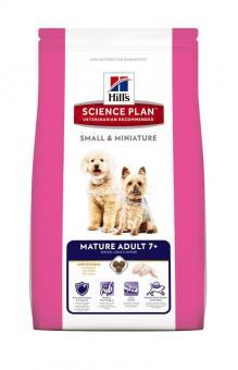 Hill's 1,5кг Mature Adult 7+Small&Miniature Для пожилых собак мелких и миниатюрных пород с курицей