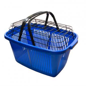 Корзина-переноска 28x33x47 см для животных пластик синяя