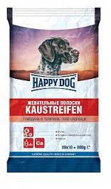 Happy dog 200 гр  Полоски жевательные с говядиной