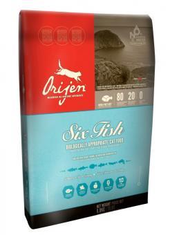 Orijen 5,4 кг Cat 6 fish 85/15 Беззерновой корм для кошек всех возрастов 6 видов рыб