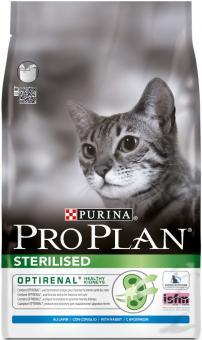 Pro Plan 1,5кг Sterilise rabbit Сухой корм для кастрированных котов и стерилизованных кошек курица кролик