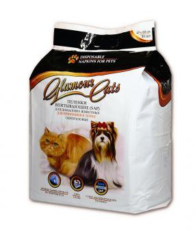 GlamourCats 45x60см 50штГелевые пеленки для животных