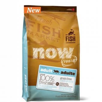 NOW Natural 3,63кг беззерновой для Взрослых Кошек с форелью и лососем для чувствительного пищеварения,