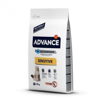 Advance 10кг Adult Salmon Sensitive для кошек с чувствительным пищеварением лосось и рис
