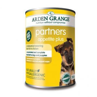 Arden Grange 395гр Partners, Appetite Plus benefit Консервированный корм для собак и щенков, Суп с курицей