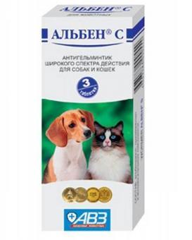 Альбен С 3 таб. антигельминтик широкого действия