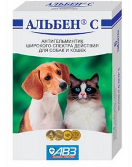 Альбен С 6 таб. антигельминтик широкого действия