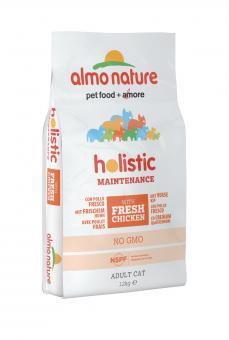 Almo Nature 12кг для взрослых кошек  с курицей и коричневым рисом