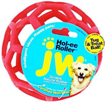 JW Hol-ee Roller Сетчатый каучуковый мяч для собак, средний