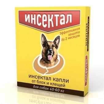 Экопром Инсектал Капли для собак 40-60кг от блох и клещей
