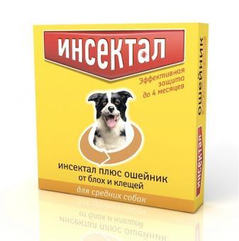 Экопром Инсектал Ошейник для средних собак от блох и клещей