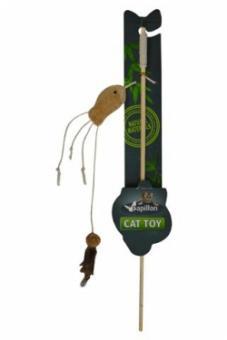 Papillon Удочка с рыбкой 40+7см Cat toy fishing rod with fish natural, игрушка для кошек (240008)
