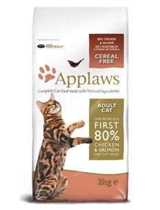 Applaws 7,5кг с курицей и лососем сухой корм для взрослых кошек