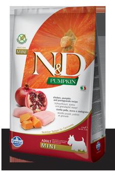 Farmina 7кг N&D Dog Grain Free Pumpkin Chicken & Pomegranate Adult Mini Беззерновой корм для взрослых собак мелких пород Курица и Гранат с Тыквой