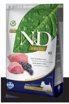 Farmina 2,5 кг N&D Dog Grain Free Lamb & Blueberry Adult Mini Беззерновой корм для взрослых собак мелких пород Ягненок и Черника