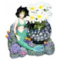 BlueRibbon Декор для аквариума - «Русалка с аквариумом» (20х16,5х19 см)  EC Mermaid Fish Bowl Scene