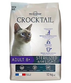 Flatazor 2 кг Crocktail 8+ Sterilise Light корм для стерилизованных и / или имеющих склонность к избыточному весу котов и кошек