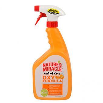 Nature's Miracle 947 мл 8IN1 NM Oxy S&O Removr Spray Универсальный уничтожитель пятен и запахов «Оранж-Окси»