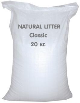 Natural Litter 20кг комкующийся бентонитовый наполнитель шарики мелкие, лимон