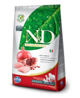 Farmina 2,5кг N&D Dog Chicken-Pomegranate Puppy Small-Medium Беззерновой корм для щенков мелких и средних пород курица, гранат