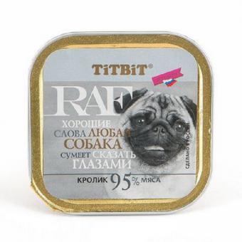 TiTBiT 100г паштет для собак RAF с кроликом