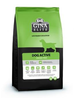 Скидка 50% на 2ой мешок Gina 8 кг Dog Active Grain Free Беззерновой корм высшей категории качества для активных собак