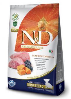 Farmina 2,5 кг N&D Dog Lamb & Blueberry Adult Mini Беззерновой корм для взрослых собак мелких пород Ягненок с Черникой