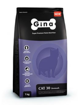 Gina 7,5 кг Cat-30 Denmark Сухой корм суперпремиум класса для кошек с нормальной активностью