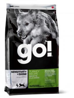 Go Natural 11,35кг Sensitivity  Turkey беззерновой для щенков и собак с индейкой для чувствительного пищеварения