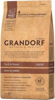 Grandorf 3 кг Duck&Potato Adult All Breeds Беззерновой корм для собак утка с картофелем