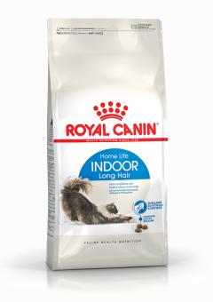 Royal canin 0,4кг Indoor long hair  Сухой корм для длинношерстных кошек от 1 до 10 лет живущих в помещении
