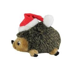 OH игрушка для собак Invinc Mini Ежик без наполнителя с пищалками 15 см