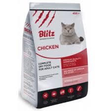 Blitz 0,4 кг Adult Cat  курица сухой корм для взрослых кошек